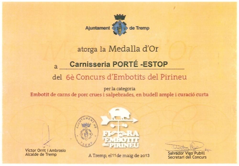 diploma-medalla-oro-tremp-embotit-tradicional-carnisseria-porte-estop-vilaller-artesano-ribagorça-pirineo-003