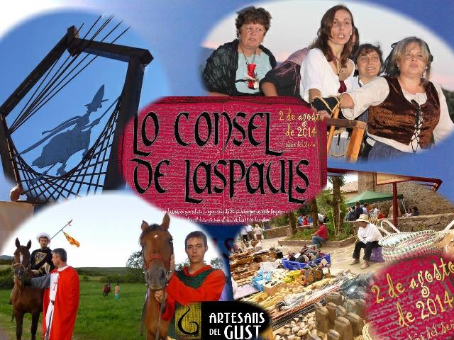 Lo consel de Laspauls 2014, obra de teatre i fira medieval.