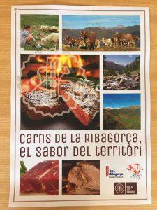 """Cartell """"carns de la Ribagorça"""" .El sabor del territorio."""